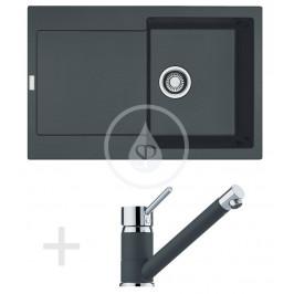 FRANKE - Sety Kuchyňský set G71, granitový dřez MRG 611, grafit + baterie FG 7477.099, grafit (114.0365.260)