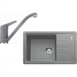 FRANKE - Sety Kuchyňský set G117, fragranitový dřez BSG 611-62, šedý kámen + baterie FC 9541.084, chrom/šedý kámen (114.0440.712)