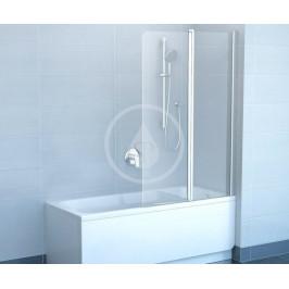 RAVAK - Chrome Vanová zástěna dvoudílná CVS2, levá, 990x1500 mm, bílá/transparentní sklo (7QLA0100Z1)