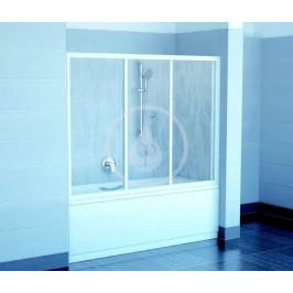 RAVAK - Supernova Vanové dveře třídílné AVDP3-150, 1470-1510 mm, bílá/sklo Grape (40VP0102ZG)