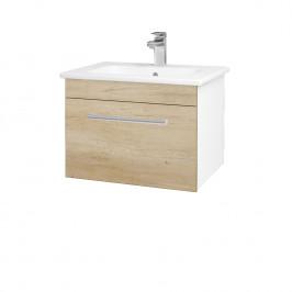 Dreja - Koupelnová skříň ASTON SZZ 60 - N01 Bílá lesk / Úchytka T03 / D15 Nebraska (173913C)
