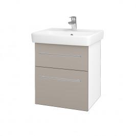 Dreja - Koupelnová skříň Q MAX SZZ2 55 - N01 Bílá lesk / Úchytka T02 / N07 Stone (198107B)