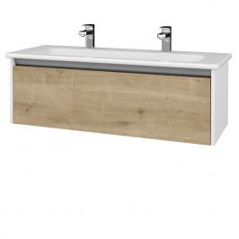 Dreja - Koupelnová skříň BONO SZZ 120 (umyvadlo Euphoria) - N01 Bílá lesk / D09 Arlington (203832U)
