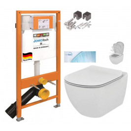 JOMO DUO modul pro závěsné WC bez desky + WC Ideal Standard Tesi se sedátkem SoftClose, AquaBlade  (174-91100700-00 TE1)