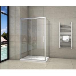 H K - Obdélníkový sprchový kout SYMPHONY 100x90 cm s posuvnými dveřmi včetně sprchové vaničky z litého mramoru (SE-SYMPHONY10090/ROCKY-10090)