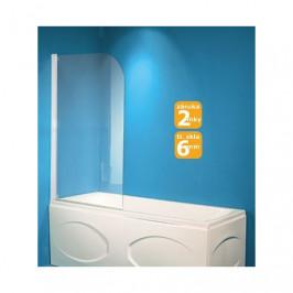 HOPA - Vanová zástěna LUCCA - Barva rámu zástěny - Hliník bílý, Rozměr A - 75 cm, Směr zavírání - Univerzální Levé / Pravé, Výplň - Čiré bezpečnostní sklo - 6 mm (OLVLUC76)