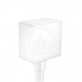 HANSGROHE - Fixfit Přípojka hadice Square se zpětným ventilem, matná bílá (26455700)