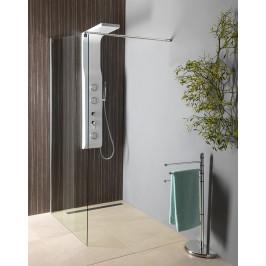 AQUALINE - WALK-IN zástěna jednodílná k instalaci na zeď, 700x1900 mm, sklo čiré (WI071)