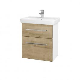 Dreja - Koupelnová skříň GO SZZ2 55 - N01 Bílá lesk / Úchytka T04 / D09 Arlington (148362E)