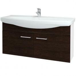 Dreja - Koupelnová skříň TAKE IT SZD2 120 - N01 Bílá lesk / Úchytka T04 / D08 Wenge (152345E)