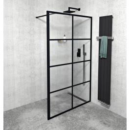 GELCO - CURE BLACK sprchová zástěna 1400mm, černá mat (CB140)