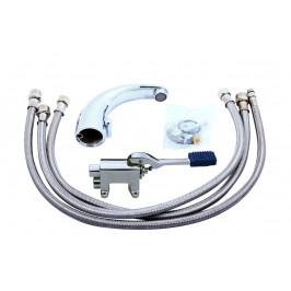 SLEZAK-RAV - Vodovodní baterie na jednu vodu NÁŠLAPNÁ, Barva: chrom, Rozměr: 1/2'' (NB101.5)