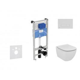 IDEAL STANDARD - ProSys Set předstěnové instalace, klozetu a sedátka  Tesi, tlačítka Oleas M1, Rimless, SoftClose, bílá (ProSys120M SP10)