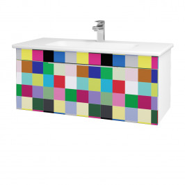 Dreja - Koupelnová skříň ASTON SZZ 100 - N01 Bílá lesk / Úchytka T05 / IND Individual (137472F)