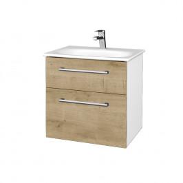 Dreja - Koupelnová skříň PROJECT SZZ2 60 - N01 Bílá lesk / Úchytka T03 / D09 Arlington (328467C)