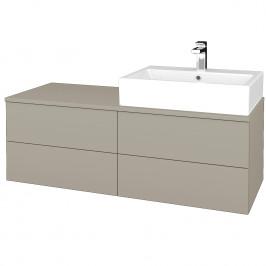 Dreja - Koupelnová skříňka MODULE SZZ4 120 - L04 Béžová vysoký lesk / L04 Béžová vysoký lesk / Pravé (316358P)