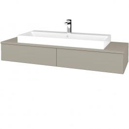 Dreja - Koupelnová skříňka MODULE SZZ2 140 - L04 Béžová vysoký lesk / L04 Béžová vysoký lesk (337285)