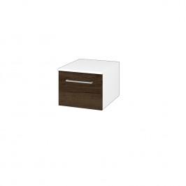 Dreja - Skříň nízká DOS SNZ1 40 - N01 Bílá lesk / Úchytka T04 / D21 Tobacco (281809E)