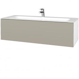 Dreja - Koupelnová skříň VARIANTE SZZ 120 - N01 Bílá lesk / L04 Béžová vysoký lesk (270285)