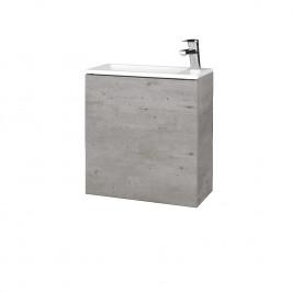 Dreja - Koupelnová skříň VARIANTE SZD 50 - D01 Beton / D01 Beton / Levé (327699)