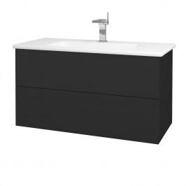Dreja - Koupelnová skříň VARIANTE SZZ2 100 (umyvadlo Euphoria) - N03 Graphite / N03 Graphite (190316)
