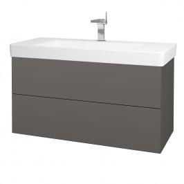 Dreja - Koupelnová skříň VARIANTE SZZ2 105 - N06 Lava / N06 Lava (195939)