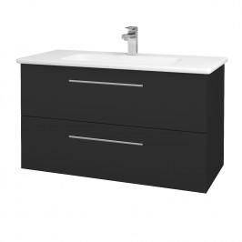 Dreja - Koupelnová skříň GIO SZZ2 100 - N03 Graphite / Úchytka T02 / N03 Graphite (202873B)