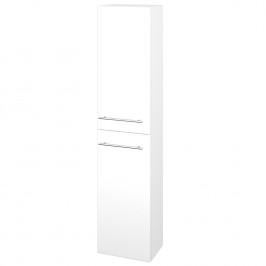 Dreja - Skříň vysoká DOS SV1D2 35 - M01 Bílá mat / Úchytka T02 / M01 Bílá mat / Pravé (210182BP)
