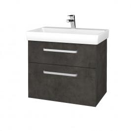 Dreja - Koupelnová skříň PROJECT SZZ2 70 - D16  Beton tmavý / Úchytka T01 / D16 Beton tmavý (322946A)
