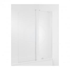 JIKA - Cubito Vanová zástěna dvojdílná,1400x1150 mm, pravá, stříbrná/transparentní sklo (H2574260026681)