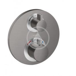 HANSGROHE - Ecostat S Termostatická batéria pod omietku na 2 spotrebiče, kefovaný čierny chróm 15758340