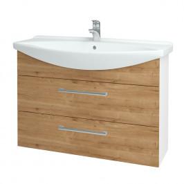 Dreja - Koupelnová skříň TAKE IT SZZ2 105 - N01 Bílá lesk / Úchytka T03 / D09 Arlington (153212C)