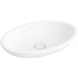 VILLEROY & BOCH - Loop&Friends Umývadlo na dosku, 585x380 mm, bez prepadu, bez otvoru na batériu, alpská biela 51510101