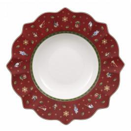 Villeroy & Boch Toy´s Delight hlboký tanier, červený, 26 cm