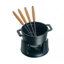 Staub súprava na čokoládové fondue, čierna, 0,25 l / 10 cm