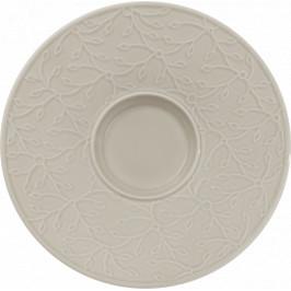 Caffè Club Floral Touch of Smoke Podšálka na bielu kávu, 17 cm