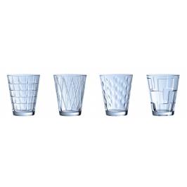Villeroy & Boch Dressed Up Blue sada pohárov na vodu, 4x 0,310 l