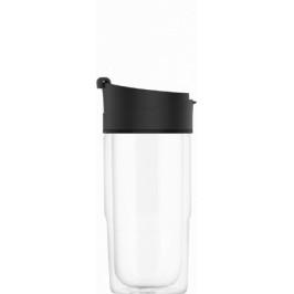 SIGG sklenený cestovný hrnček Nova Black, 0,37 l