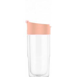 SIGG sklenený cestovný hrnček Nova Sky Pink, 0,37 l