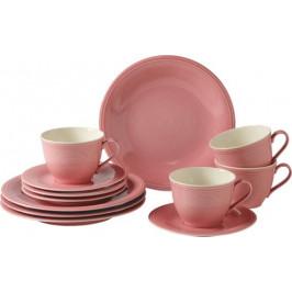 Villeroy & Boch Like Color Loop Rose porcelánový kávový servis, 12 ks