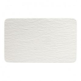 Villeroy & Boch Manufacture Rock Blanc porcelánový podnos, 28 x 17 cm