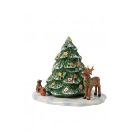 Villeroy & Boch Christmas Toys dekorácia / svietnik, vianočný stromček so zvieratkami, 17 cm