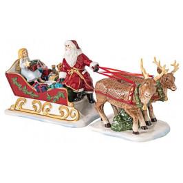 Villeroy & Boch Christmas Toys dekorácia / svietnik, Santov záprah, 36 cm
