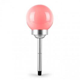 OneConcept LED-Flower 15, záhradné svietidlo, solárna lampa, Ø 14 cm, 2 RGB LED diódy, IP44, červená