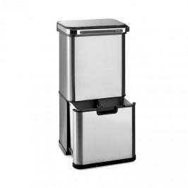 Klarstein Touchless Ultraclean, odpadkový kôš so senzorom, 60 l, 3 nádoby, ušľachtilá oceľ, strieborný