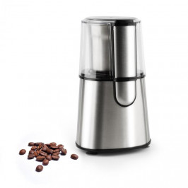 Klarstein Speedpresso, strieborný, mlynček na kávu, 200 W, 65 g, trieštivý mlecí mechanizmus, ušľachtilá oceľ