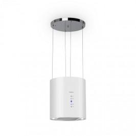 Klarstein Barett, ostrovčekový digestor, Ø 35 cm, recirkulácia 560 m³/h, LED, filter s aktívnym uhlím, biely