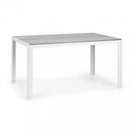 Blumfeldt Bilbao, záhradný stôl, 150 x 90 cm, polywood, hliník, bielo/sivý