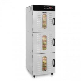 Klarstein Master Jerky 550, sušička potravín, 2400 W, 40 – 90 °C, 24 hod. časovač, ušľachtilá oceľ, strieborná