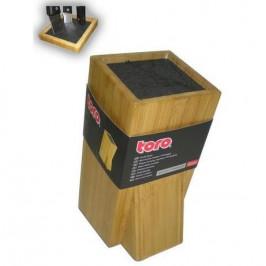 Blok na nože Toro 261914... Bambusový stojan pro skvělé uložení nožů různých velikostí.